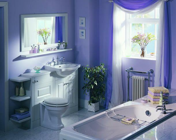 Baño Moderno Violeta