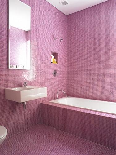 Cortinas De Baño Rosa:Baño rosa