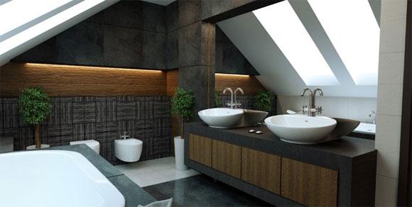 Decoracion De Baño Minimalista:Baño con diseño minimalista