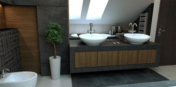 Baños Diseno Minimalista:Baño con diseño minimalista