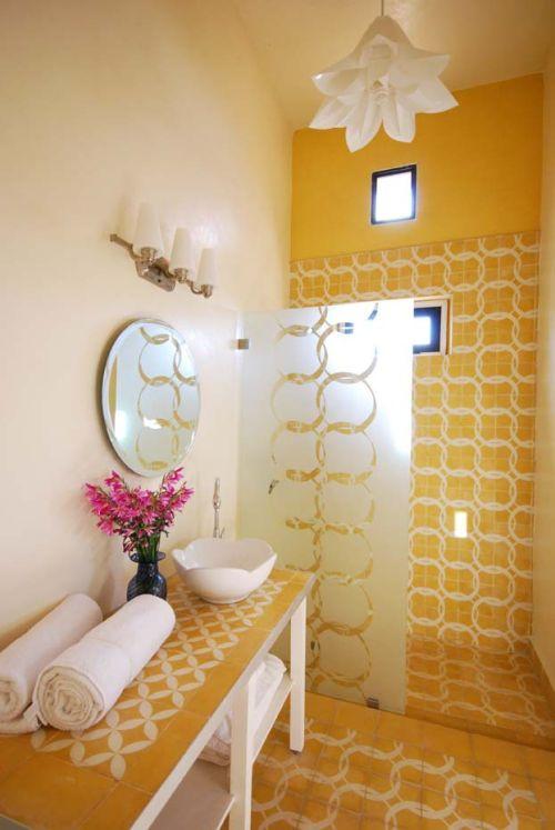 Baños Amarillos Pequenos:bano-amarillo-estilo-marroqui-1