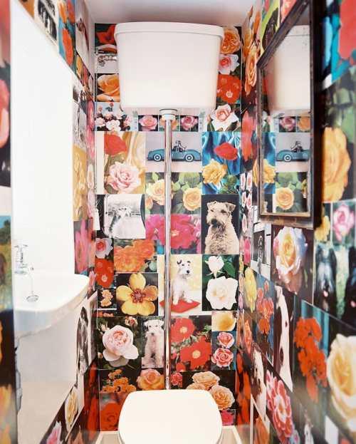 Baño Pintado De Amarillo:Baño vintage