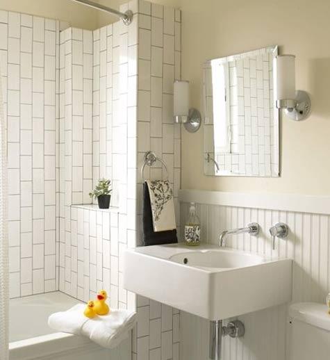 ba o peque o y blanco con detalles retro muebles de ba o