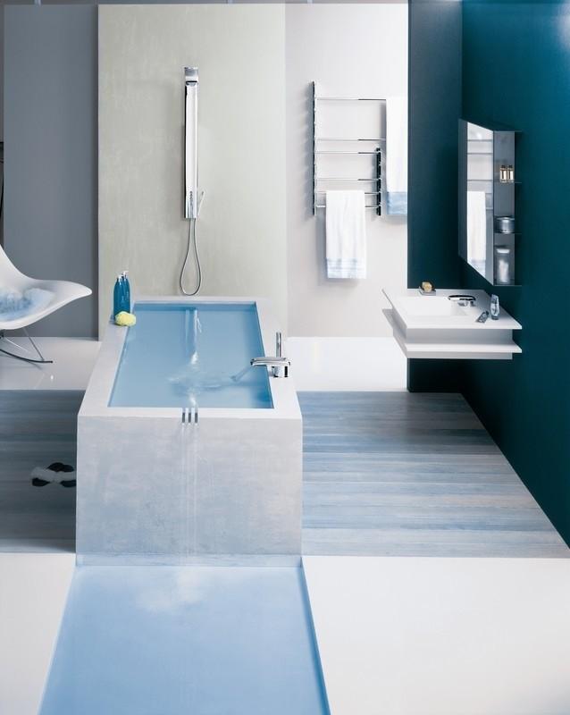 Ba o en blanco y celeste muebles de ba o debanos com for Muebles de bano de diseno modernos
