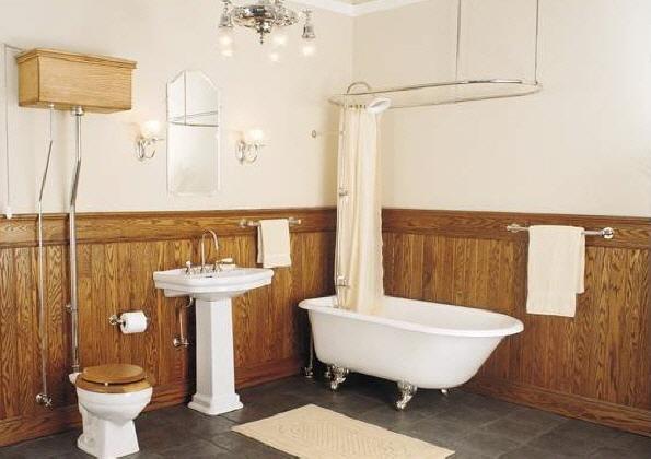 Retro en madera muebles de ba o debanos com for Decoracion de banos antiguos