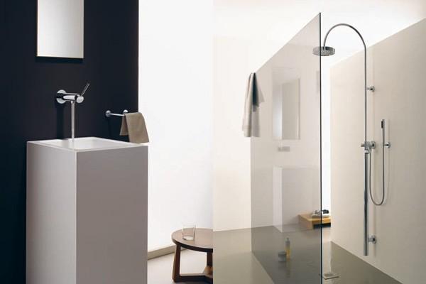 Ba os modernos minimalistas en dos colores muebles de for Bano de color colores