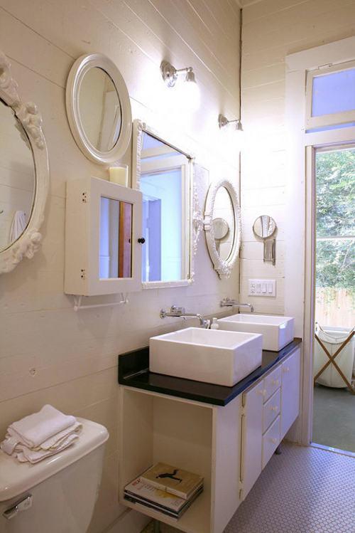 espejos en el baño